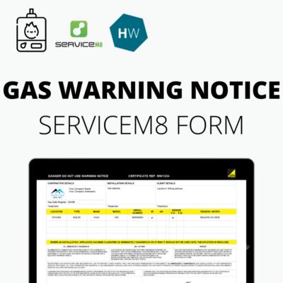 Gas Safe Gas Warning Notice