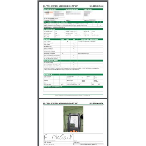 Completed CD11 Report Form