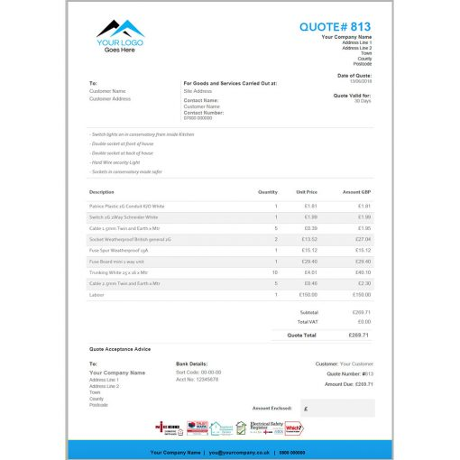 Toolbox Style Quote & Invoice