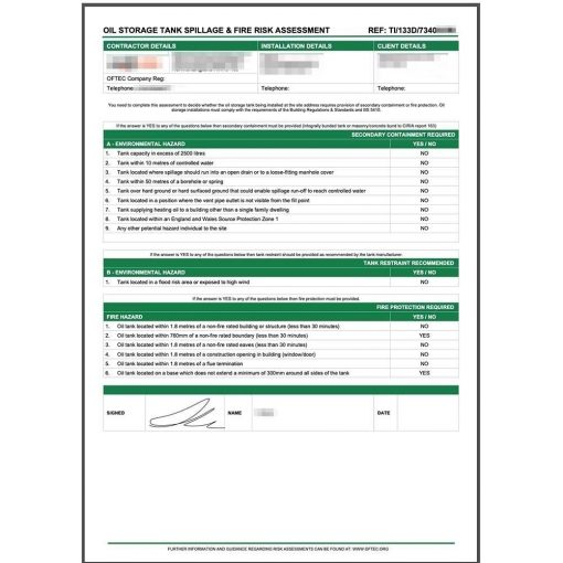 TI133D Oil Form
