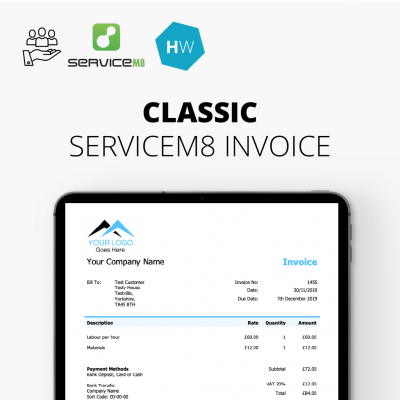 Classic ServiceM8 Invoice Template