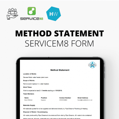 ServiceM8 Method Statement Report