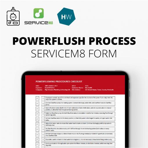 powerflush ServiceM8 form