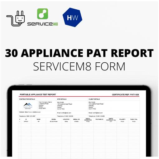 30 Appliance PAT report