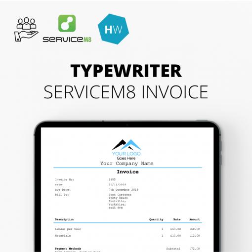 Typewriter Invoice Template