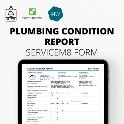 Plumbing Condition Report form for ServiceM8
