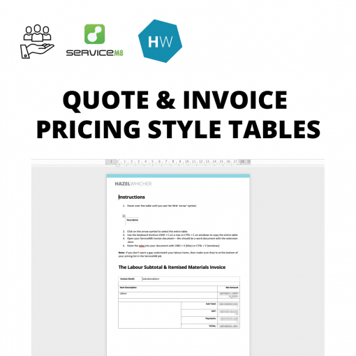Pricing Tables for ServiceM8 Document Templates