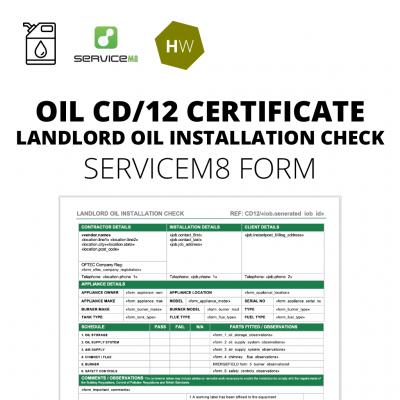 cd12 landlord oil installation check