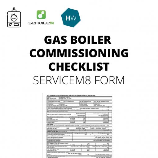 Gas Boiler Commissioning Checklist Benchmark Servicem8 form