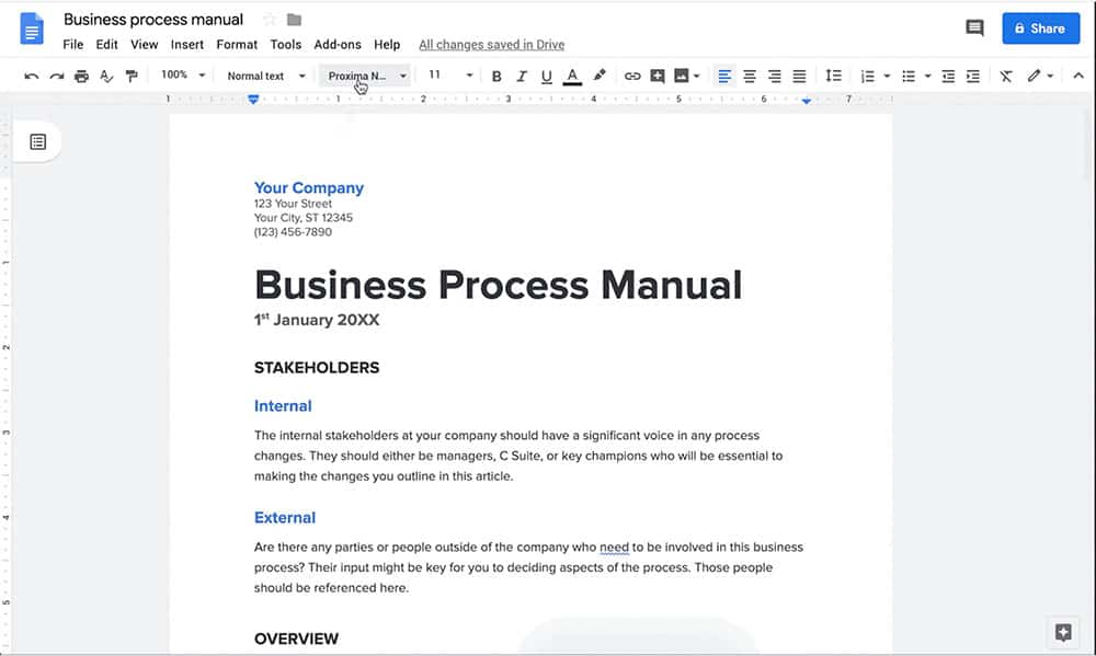 Google docs for knowledge mapping